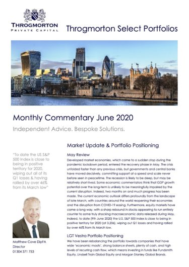 Select Portfolio Commentary June 2020