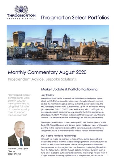 Select Portfolio Commentary August 2020